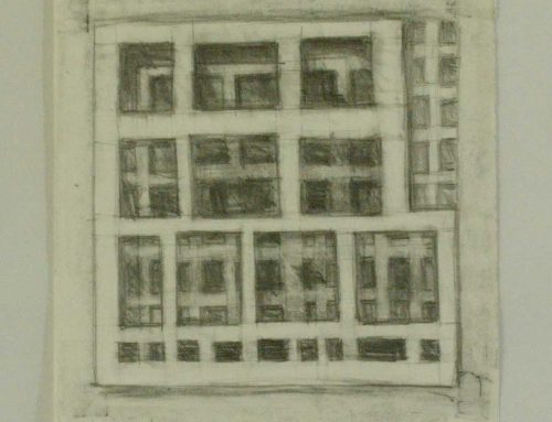 Grid Drawing No22 Pencil On Paper 337x330mm